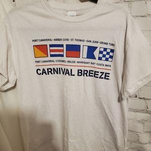 Carnival Breeze Graphic Tee White sz M